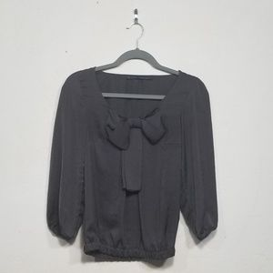 Zara Basic Bow Top